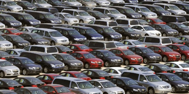 File photo of General Motors' new Chinese-made cars for domestic and foreign markets at a parking lot in Shenyang